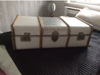 Vintage upcycled suitcase