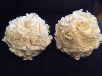 6 artifial flower balls for venue table centrepieces