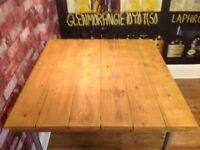 HANDMADE WOODEN DESK/HALL TABLE - RECLAIMED WOOD - INDUSTRIAL LEGS - DISMANTLED - CAN DELIVER