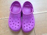 Crocs, pink, size UK 2
