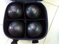 Set of 4 Bowls Henselite Super Grip Size 6