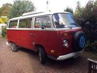 1971 VW Campervan Early Bay -Ruby