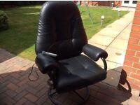 Black high back massage chair