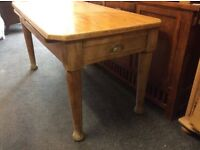Vintage pine farmhouse dining table