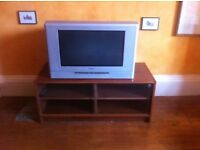 TV and Bench