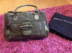 Anne Klein leather and suede handbags