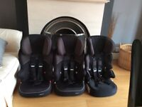3 Child Car Seats, Group 1 2 3, Aged 9 Months to 11 Years £20 Each