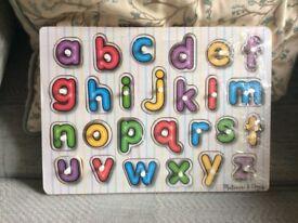Melissa and Doug alphabet jigsaw
