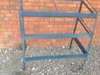 3 shelf metal frame trolley