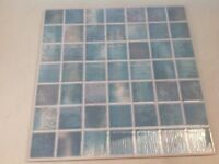 """11 X 10"""" X 10"""" Blue Wall Tiles - 4 more for spares too"""