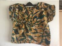 African Print ladies 2 piece outfit/ top and shorts