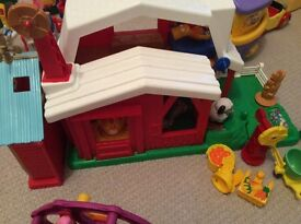 Fisher Price Little People Farm and animals.