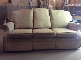 Parker knoll cream 3 seater sofa