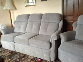 G Plan 3 Seater Sofa with Electric Recliner & matching Arm Chair