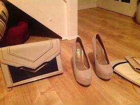 Matching shoes and handbag