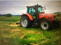 Paddock and pasture grass topping in the Scottish borders
