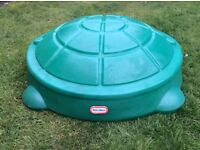 lITTLE TIKES Green Turtle Sandpit / Paddling Pool GOOD CONDITION