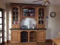 Fitted Solid oak dresser unit.