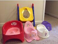 Toilet seat support, potties, keter toilet trainer