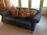 3 ,2,1, suite. Dunmurry upholstery. Monkwell fabric, some wear and tear