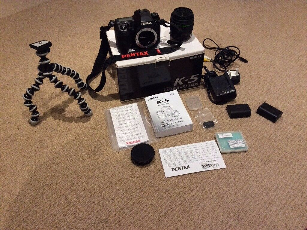 Pentax K5 DSLR Camera in Excellent Condition with Extras