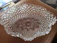 Vintage Crystal Glass Dish