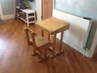 Childs Desk and chair Vintage