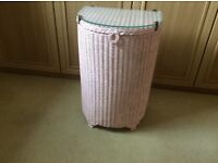 Lloyd loom laundry basket - bedside table
