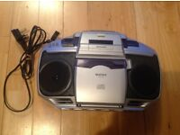 For sale CD player with built in tape and radio ,good condition
