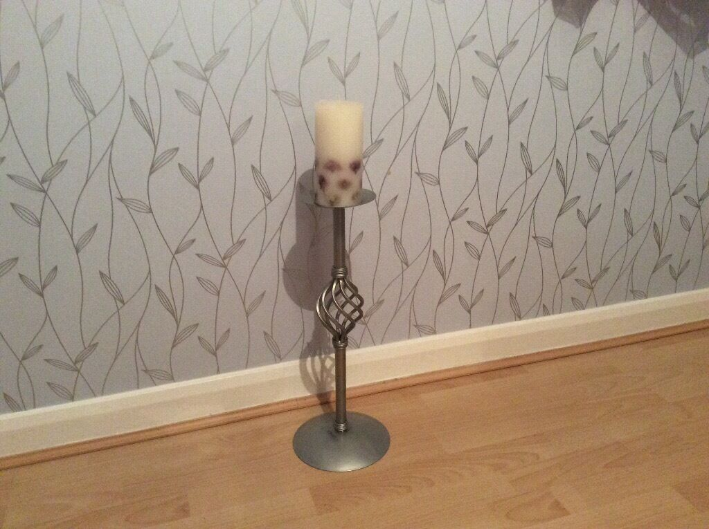 Candle and stand.