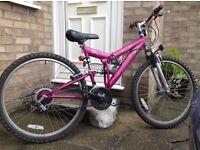 Ladies Exodus Escape Dual Suspension Mountain Bike Bicycle