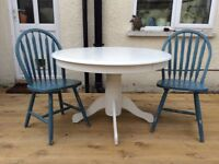 Upcycled, shabby chic table and chairs