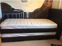 Littlewoods leather bed with pull out guest bed