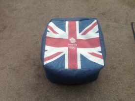 Team GB Union Jack floor bean cushions
