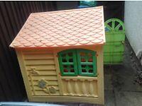 Childrens plastic playhouse