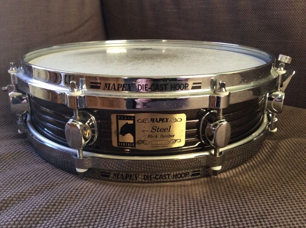 Mapex 13 3 Black Panther Steel Piccolo Snare Drum With Die