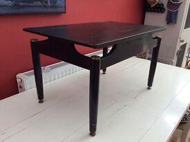 Black retro coffee table