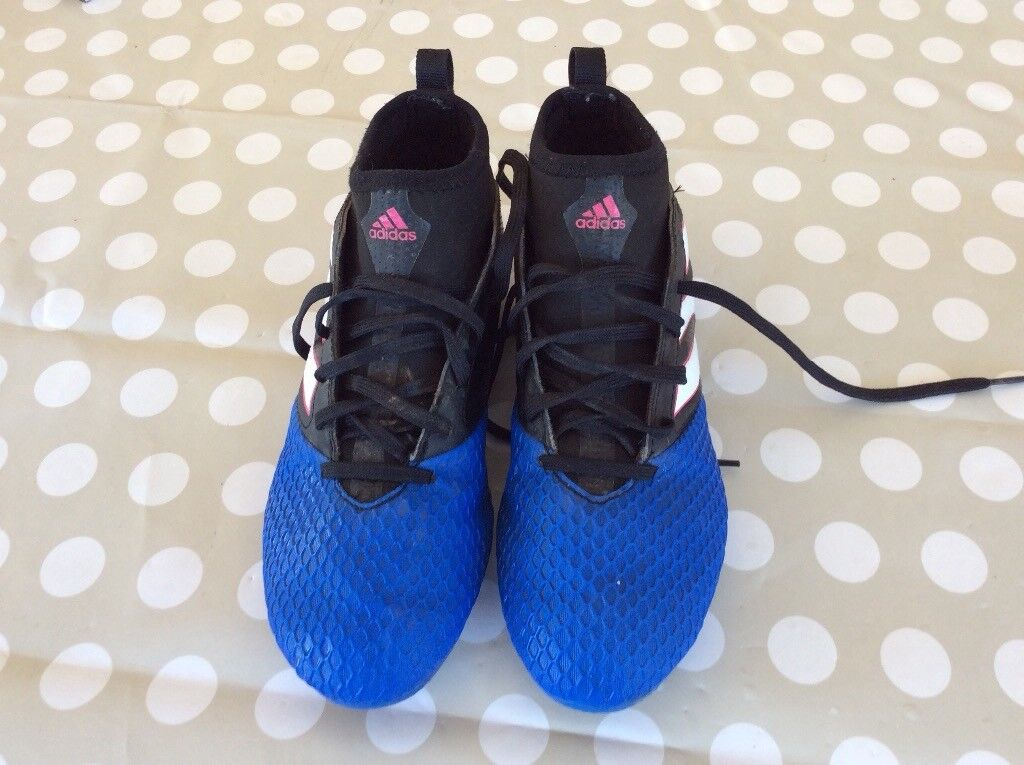 official photos d0617 be7c6 Adidas ace black and blue sock boots 17.3 UK size 4 | in Inverurie,  Aberdeenshire | Gumtree