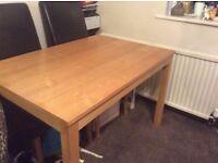 Oak dining table 32x46