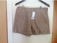 Warehouse fake leather shorts size 12 new with tag