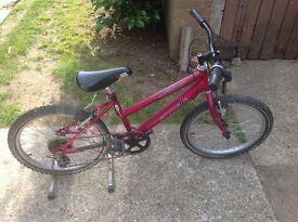 Girls. Mountian bike age 6 - 8yrs