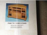 BRAND NEW PINE TV/DVD/VIDEO CORNER UNIT