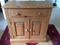 Small pine cupboard with single drawer