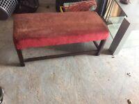 Long wooden stool