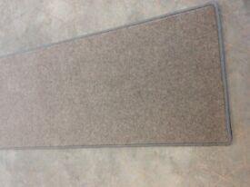 Newly bound Carpet Runner in mottled grey