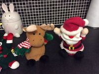 Set of 5 singing / dancing Christmas figures