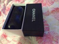 Chanel sunglasses leather case plus box