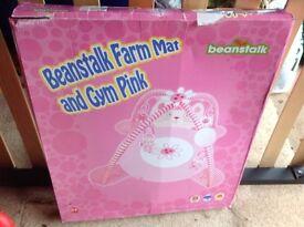 Pink play mat activity gym