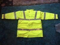 Hi viz jacket, coat, xl, yellow and orange available