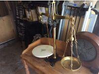 Scales brass antique
